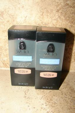 2 OIL OF OLAY - All-Day Moisture Stick Foundation Oil-Free &