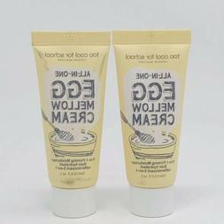 2x Too Cool for School Egg Mellow Cream Face Moisturizer Lot