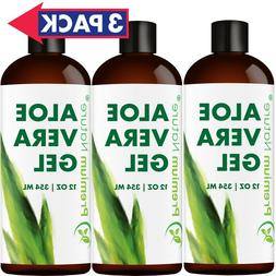 Aloe Vera Gel Pure 36 OZ VALUE PACK Face and Body Moisturize