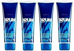 Avon Musk Marine After Shave Conditioner Lot of 4