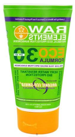 Raw Elements: Eco Formula 30+ Sunscreen, 3 oz, All Natural U