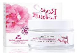 Soothing Face Cream Rose & Yogurt - with Natural Rose Oil an