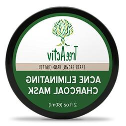 TreeActiv Acne Eliminating Charcoal Mask   Natural Clay Face