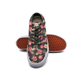 Brilliant Watercolor Pomegranate Flowers Casual Shoes Sneake