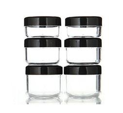 6PCS 10ML/15ML/20ML Clear Plastic Empty Refillable Sample Bo