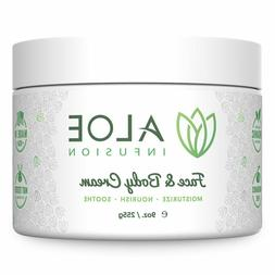 Aloe Infusion Face & Body Cream Natural Moisturizer with Org