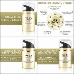 Face Moisturizer by Olay Total Effects 7-in-1 Anti-Aging, 1.