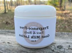 Goat Milk & Oatmeal Lotion Fragrance Free Sensitive Skin Fac