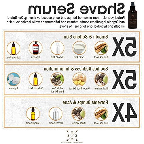 Aftershave Serum for Bumps Hairs Natural & to Prevent Razor Soothe Inflammation & Ingrown Hair Treatment With Ginger Root, Root,Black Walnut