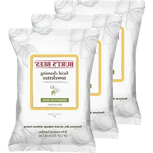 Burt's Bees Sensitive Facial Cleansing Towelettes with Cotto