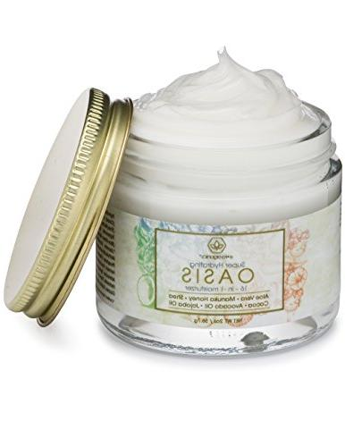 Face Moisturizer Skin 16-in-1 Cream With Cocoa Jojoba Oil pH Balanced & Night