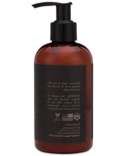Organic Men's Body Moisturizing Cleanser For Sensitive Oily Acne Prone Skin With Avocado, Fight Acne, Wrinkles, Aging