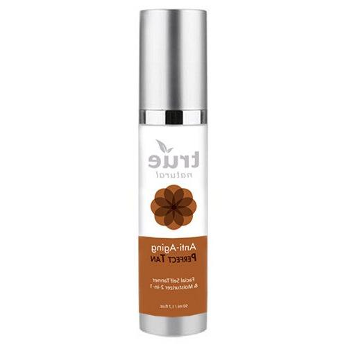 True Natural Perfect Tan Face Self Tanner & Moisturizer 2-in