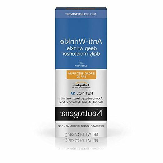Neutrogena Ageless Intensives Deep Wrinkle Moisture, SPF 20,