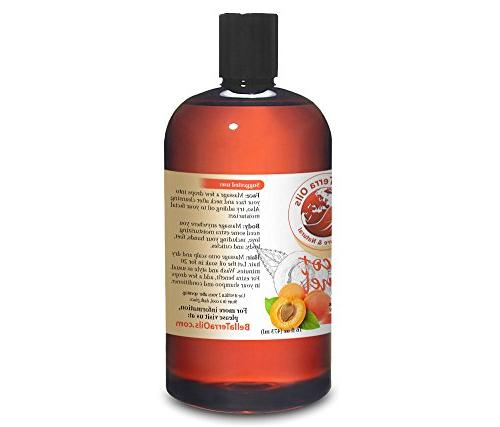 NEW Apricot Kernel 16oz. Cold-pressed. 100% Pure. Hexane-free. Hair Moisturizer. For Body,