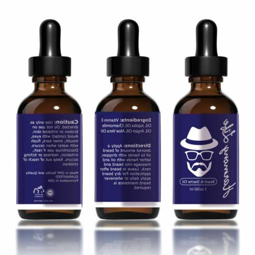 Beard Oil Leave-in Conditioner & Softener, Beard Growth, Mustache, Face