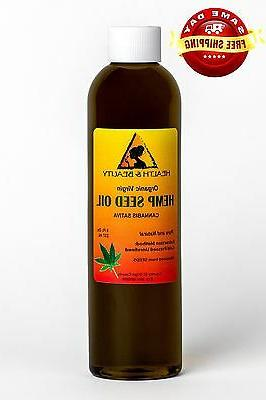 HEMP SEED OIL UNREFINED ORGANIC by H&B Oils Center COLD PRES