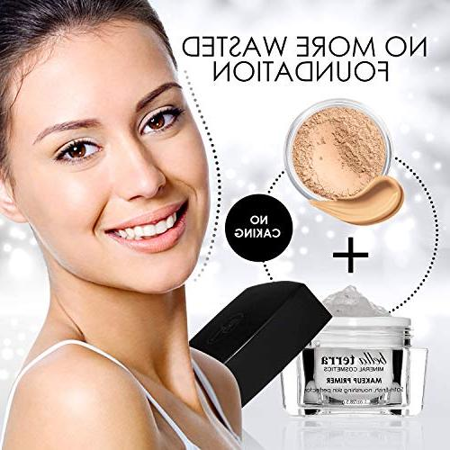 Face Primer Pore - Erases Wrinkles and Fine Lines Satin -Helps of Mineral Oily on