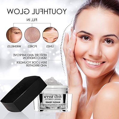 Face - Pore Minimizer Foundation Face - Erases and Fine Satin Finish -Helps of Mineral Cosmetics Oily on