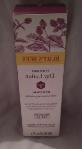 new sealed burts bees firming day lotion