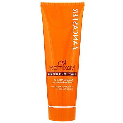 new tan maximizer soothing moisturizer repairing after