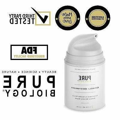 premium retinol cream face moisturizer with hyaluronic