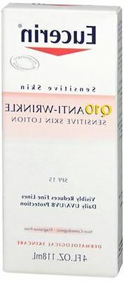 q10 anti wrinkle sensitive skin lotion spf