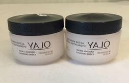 Lot of 2 Olay Active Hydrating Cream Face Moisturizer, 1.9 f