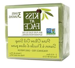 Kiss My Face Naked Pure Olive Oil Bar Soap, 4 Ounce, 3 Count