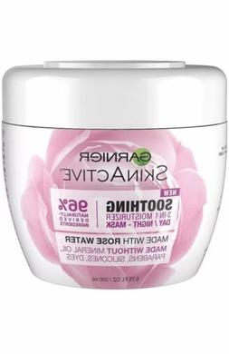NEW Garnier SkinActive 3-in-1 Face Moisturizer with Rose Wat