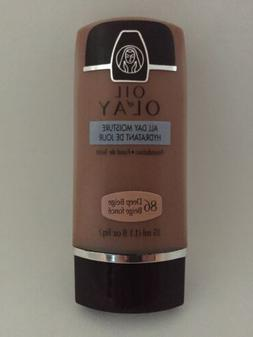 Oil Of Olay All Day Moisture Foundation 86 Deep Beige NEW