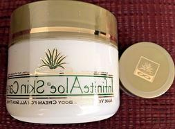 8-OZ InfiniteAloe Skin Care Plus-TWO Travel-Size Jars-Free S