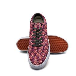 Beautiful Pomegranate Pattern Casual Sneakers Shoes Man Canv