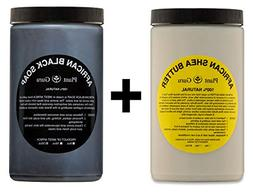 Raw African Shea Butter Ivory and Black Soap 2 lbs / 32 oz E