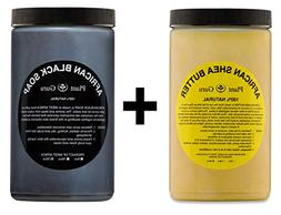 Raw African Shea Butter Yellow and Black Soap 2 lbs / 32 oz