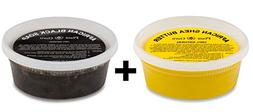 Raw African Shea Butter Yellow and Black Soap 8 oz Combo Set