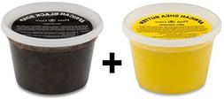 Raw African Shea Butter Yellow and Black Soap 1 lb / 16 oz E