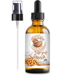 NEW Sweet Almond Oil. 4oz. Cold-pressed. Unrefined. Organic.